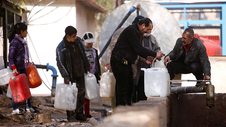 Govt workers enter Damascus water-source area to restore supply after deal with rebels