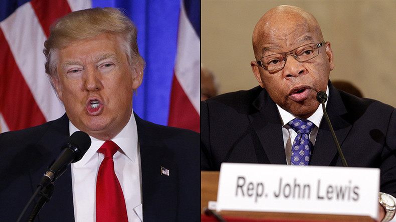 "Trump takes aim at ""all talk, no action"" civil rights icon John Lewis in latest Twitter spat"