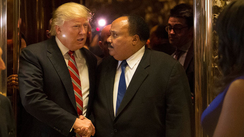MLK's son and Trump discuss national voting card ID