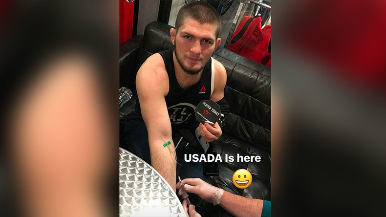 'I love USADA': Khabib Nurmagomedov takes doping test before UFC 209