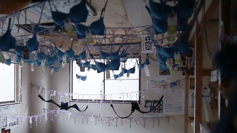 Creepy bra sanctuary opens at abandoned Japanese temple (VIDEO)
