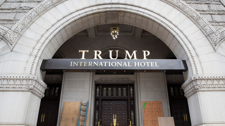 Protester tries to set himself on fire outside Trump hotel in Washington, DC