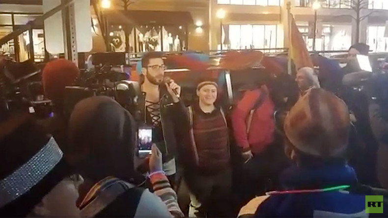 LGBT 'dance party' protesters march to DC home of VP-elect Mike Pence (VIDEOS)