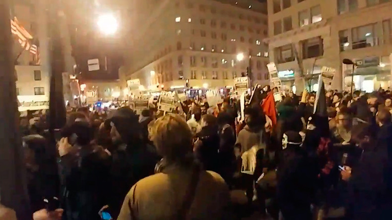 Massive anti-Trump protest at #DeploraBall in DC ahead of inauguration