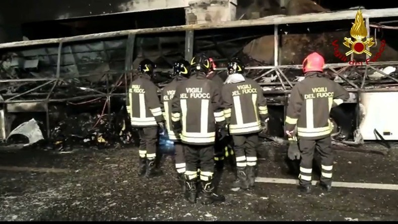 School bus crashes in Italy, killing 16, mostly teenagers
