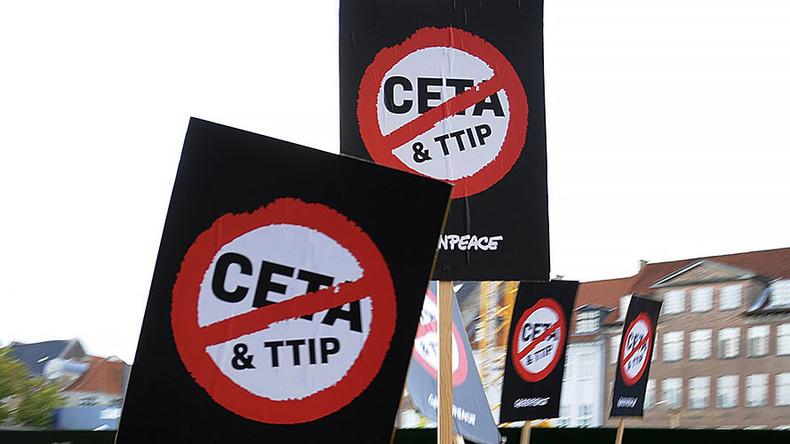 #StopCETA: Thousands protest EU-Canada trade deal in demos across Europe