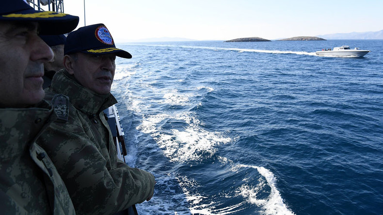 Turkish ship with top army brass causes standoff with Greek gunboats near disputed islets