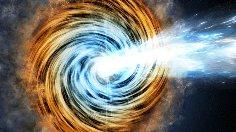 Supersized black hole powered galaxy: NASA telescope spots most extreme blazars yet (VIDEO)