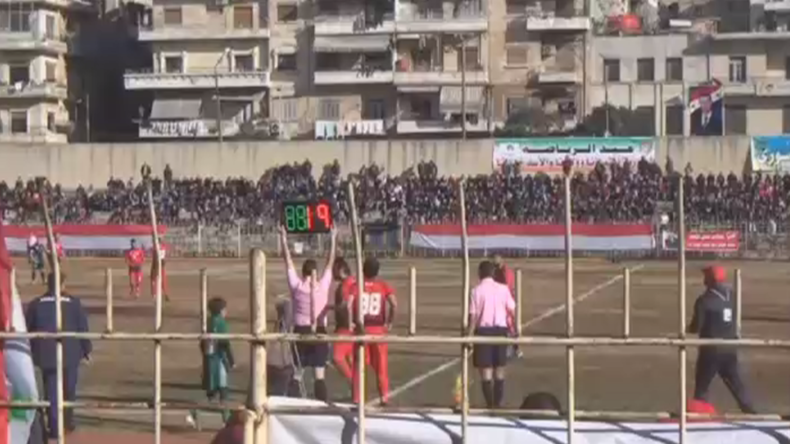 Football begins again in Aleppo after 5 years of fighting (VIDEO)