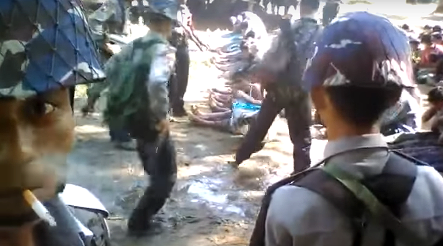Officers detained in Myanmar after footage of police beating Rohingya Muslims (DISTURBING VIDEO)