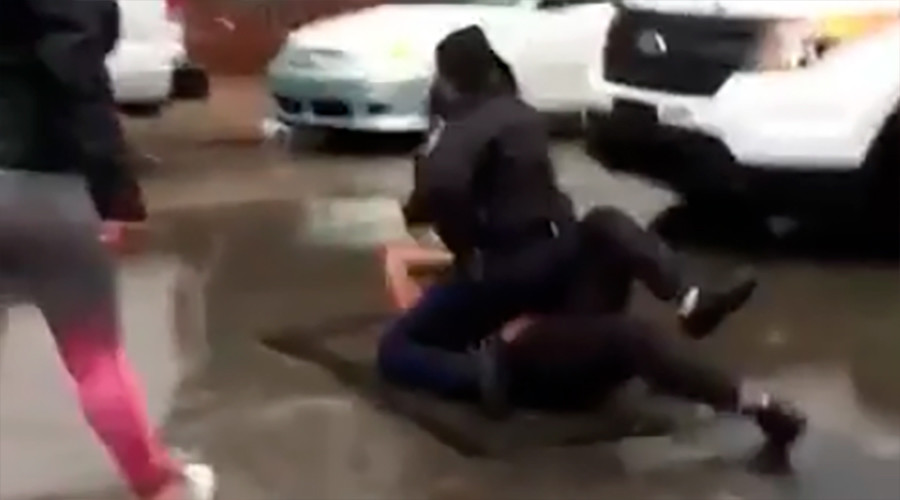 Cop under investigation after punching girl in Philadelphia brawl