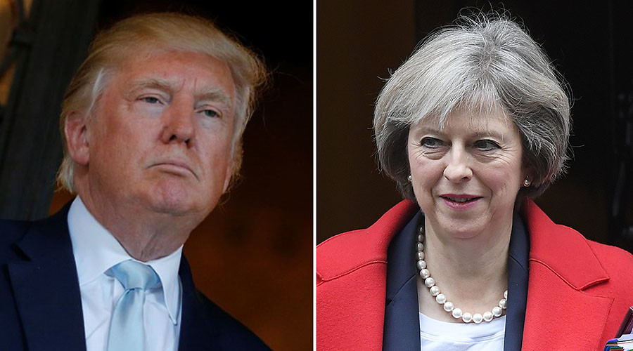 Trump and May emphasise 'special relationship' despite early snubs