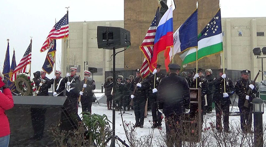 New York chorus sings Russian national anthem to honor Alexandrov Ensemble (VIDEO)