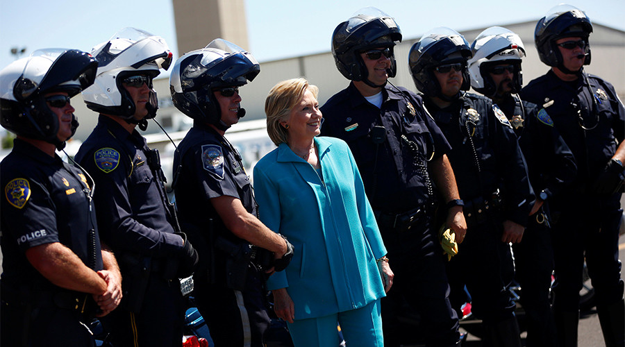 Clinton, Trump & Sanders criticized for not paying police bills