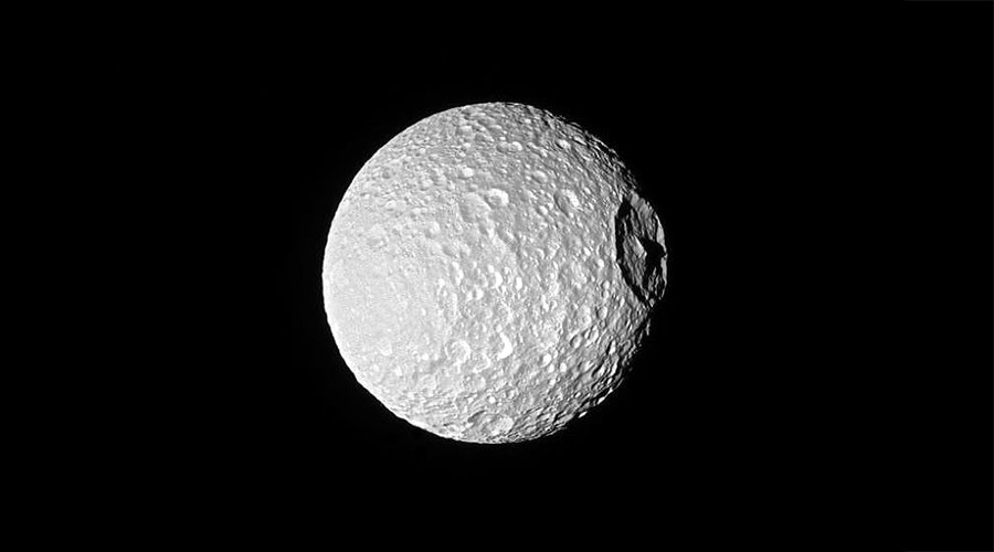 Saturn's spooky 'Death Star' moon captured in closest-ever NASA image