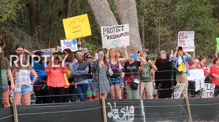 Hundreds protest gas pipeline in Florida over health & environment risks (VIDEO)