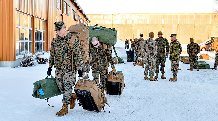 US Marines land in Norway, signaling departure from post-WW2 commitment to Russia