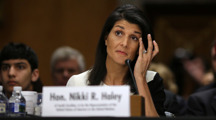 Trump's UN pick Nikki Haley shows support for Israel, hard line on Russia
