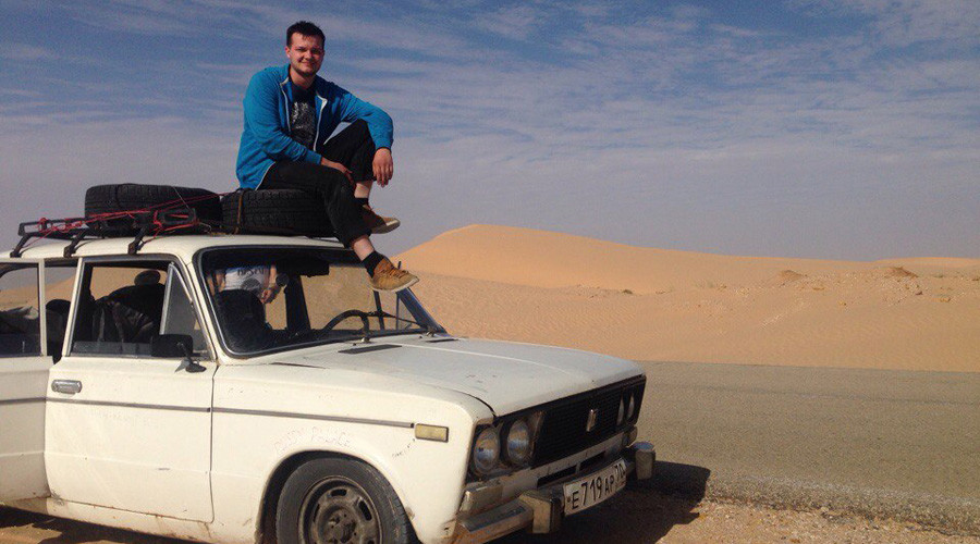 Four Siberians drive rusty Russian clunker from St. Petersburg to Gambia (PHOTOS)
