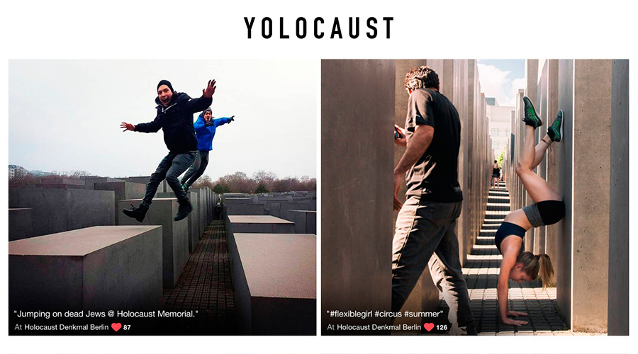 Yolocaust: Shocking art project puts Holocaust selfie-takers to shame