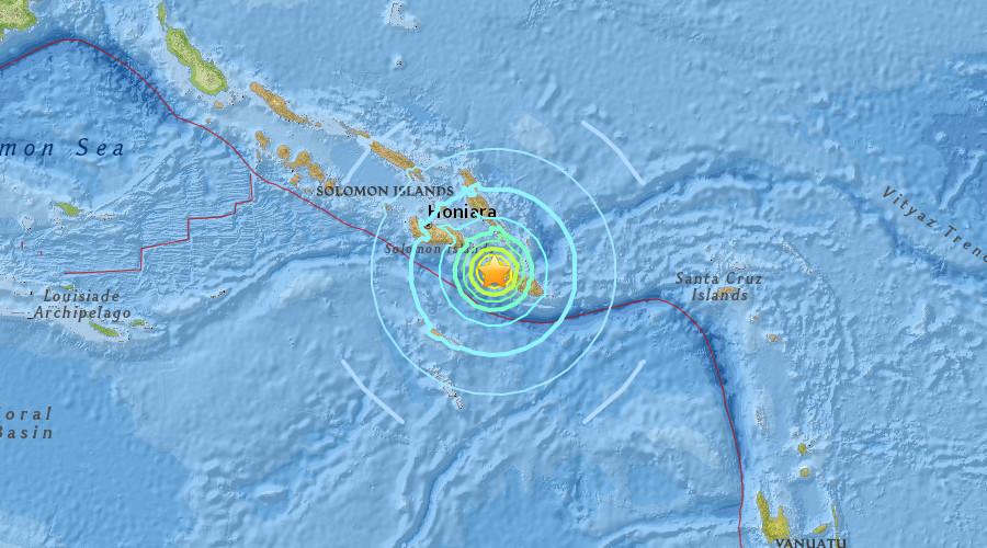 Powerful 6.5 quake strikes near Solomon Islands