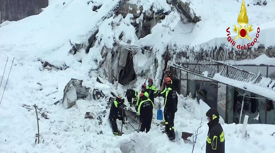 10 people found alive under snow after avalanche hits hotel in Italy – fire service spokesman