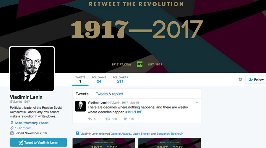 Retweet the Revolution: Unfollowing Tsar, following Lenin (VIDEO)