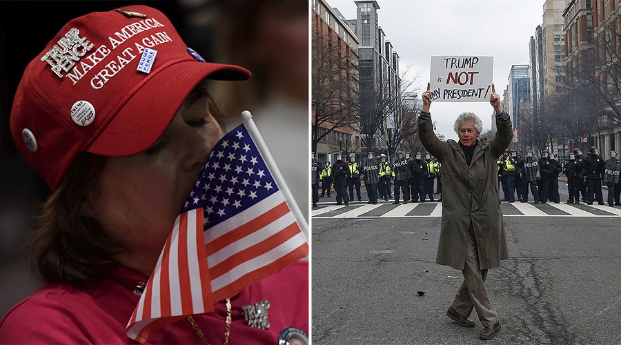 Two Americas clash on Inauguration Day (PHOTOS)