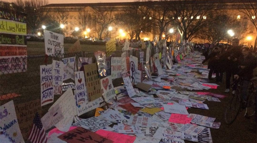 Mixed reaction as big clean up underway following DC Women's March