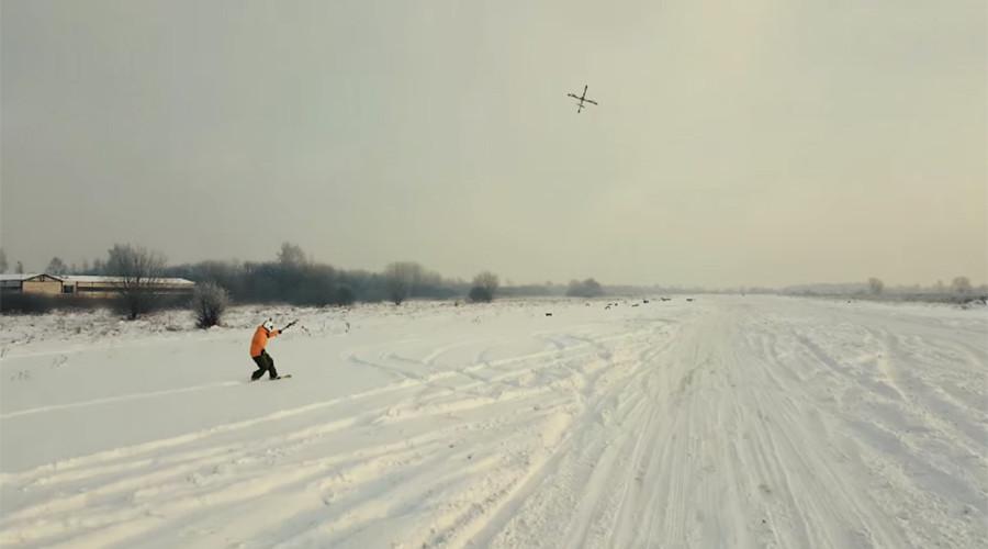 Droneboarding: Heavy duty fire & rescue bots creating a buzz in winter sports (VIDEO)