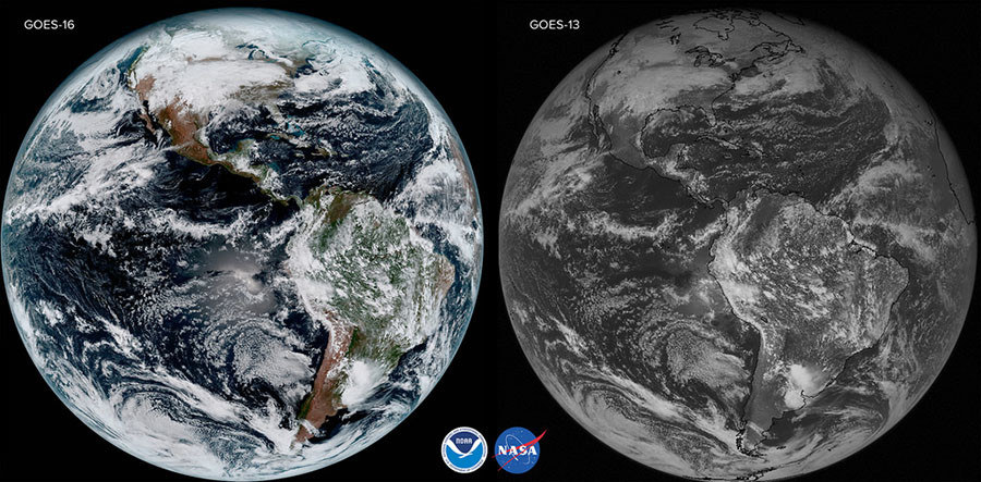 NOAA Delivers Stunning First Satellite Images Of Earth PHOTOS