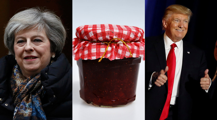 Let's stick together! Theresa May will give Trump jars of jam on Washington charm offensive