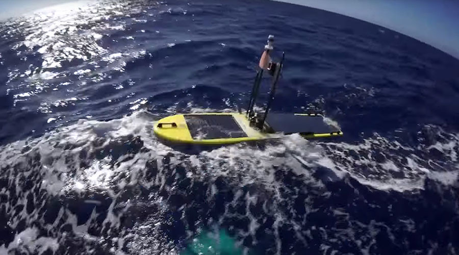 Robot protector: Surfing drone to monitor tsunamis on Japan's newest island (VIDEO)