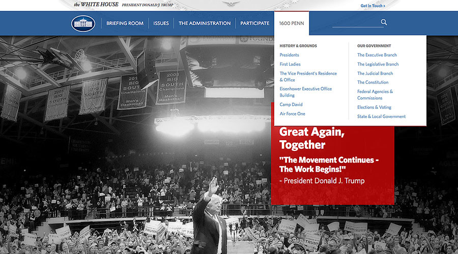 Judicial branch reappears on White House website after social media outrage