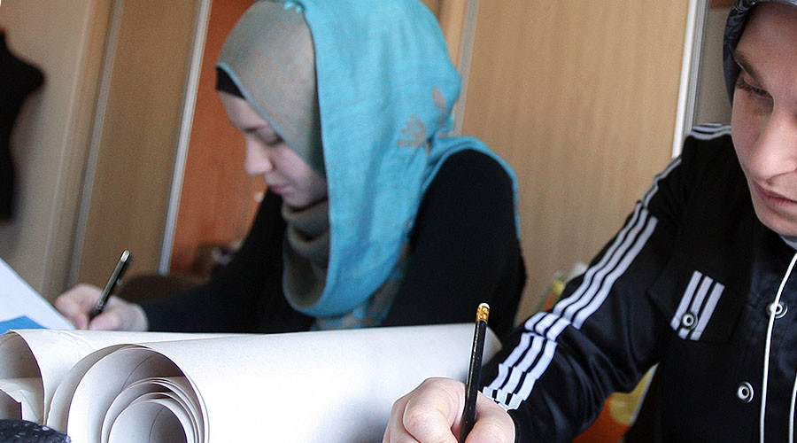 Russian opinions split equally over school hijab ban, poll shows