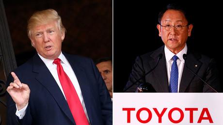 U.S. President-elect Donald Trump, Toyota Motor Corp President Akio Toyoda © Carlos Barria, Thomas Peter