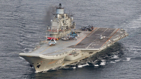 Russian aircraft carrier Admiral Kuznetsov © Norsk Telegrambyra AS / Reuters