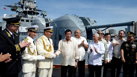 Philippines President Duterte personally receives weapons shipment & tours Russian destroyer   %Post Title