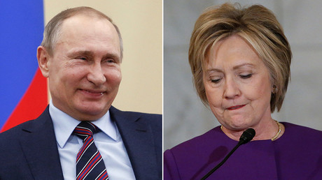 Russian President Vladimir Putin (L) and Hillary Clinton © Reuters