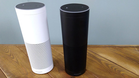 The Amazon Echo, a voice-controlled virtual assistant. ©Peter Hobson