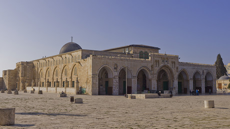 Northeast exposure of Al-Aqsa Mosque on the Temple Mount, in the Old City of Jerusalem. © Andrew Shiva