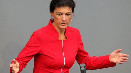 Leader of the German Left Party, Sahra Wagenknecht © Wolfgang Kumm