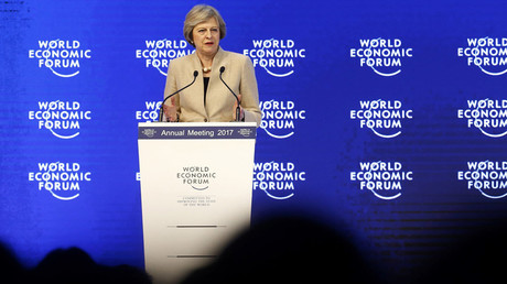 Britain's Prime Minister Theresa May attends the World Economic Forum (WEF) annual meeting in Davos, Switzerland January 19, 2017. © Ruben Sprich