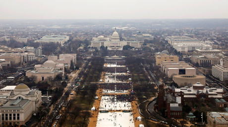 Attendees line the Mall as they partake in the inauguration ceremonies to swear in Donald Trump as the 45th president of the United States at the U.S. Capitol in Washington, U.S., January 20, 2017. © Lucas Jackson