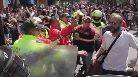 Activists clash with police as bullfighting returns to Bogota, Colombia
