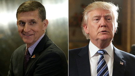 National security adviser General Michael Flynn (L) and U.S. President Donald Trump © Reuters