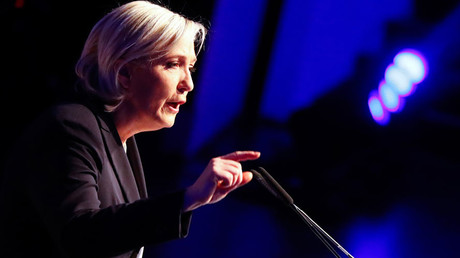 French presidential candidate Marine Le Pen refused entry to refugee camp