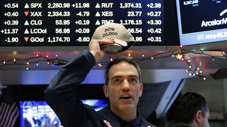 Dow Jones Industrial Average hits 20,000 for first time ever