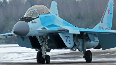 Russia presents new MiG-35 fighter jet designed to potentially use laser guns