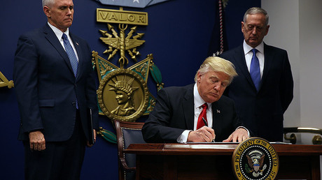 Rebuild military & ban radical Muslims: Trump signs executive actions at Pentagon